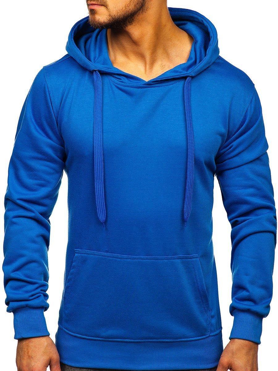 Modrá pánska mikina s kapucňou BOLF 22002 599e7f4b0ab