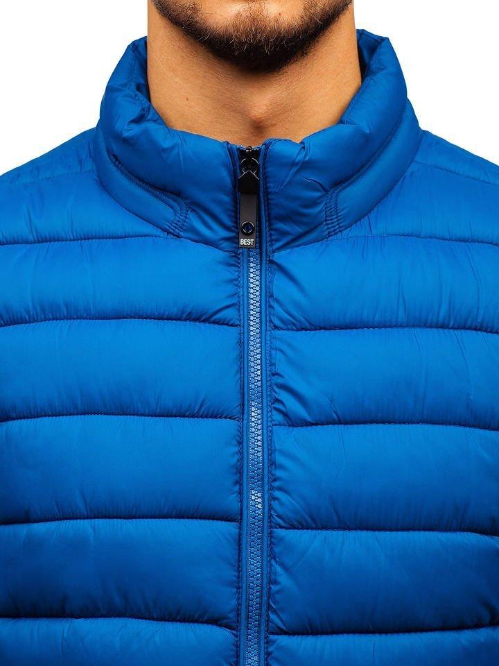 Modrá pánska prešívaná vesta BOLF 1262 e89697e67f5