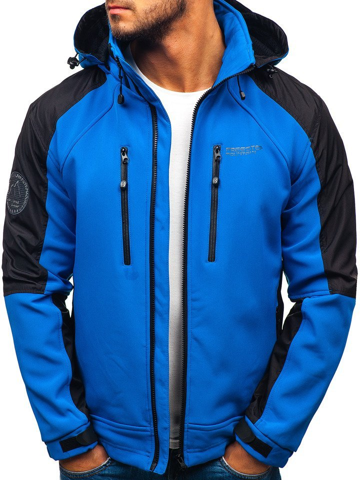 50c8b3dc2 Modrá pánska softshellová bunda BOLF P06