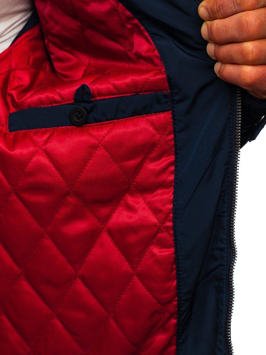 Tmavomodrá pánska prechodná bunda BOLF 1702 b336dffa7de