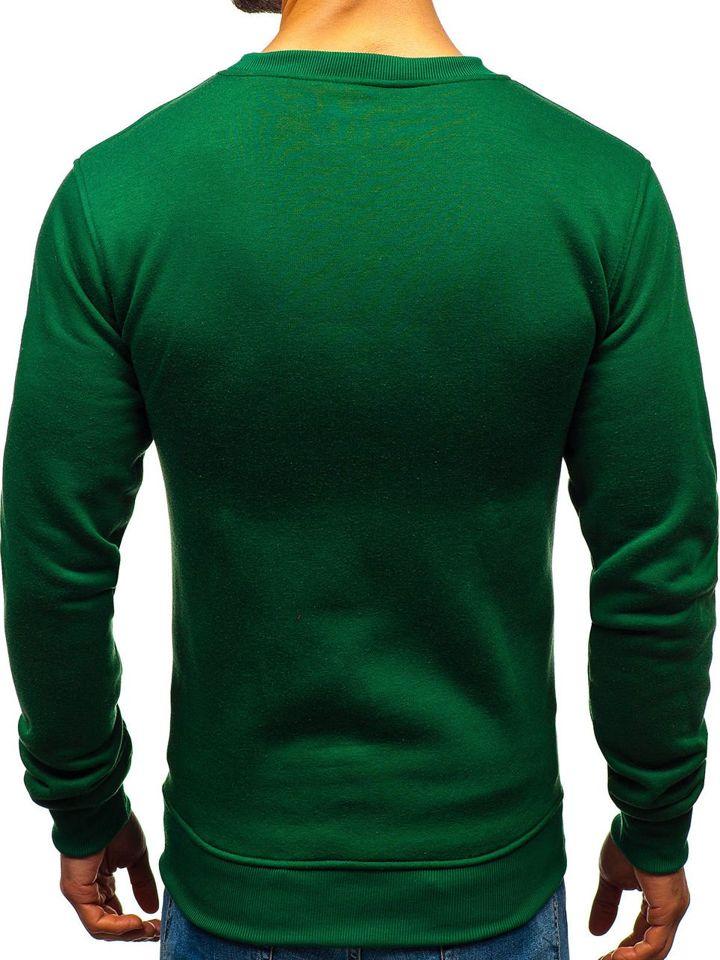 Zelená pánska mikina bez kapucne BOLF BO-01 2e20690d045