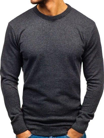 Antracitový pánsky sveter BOLF 6001