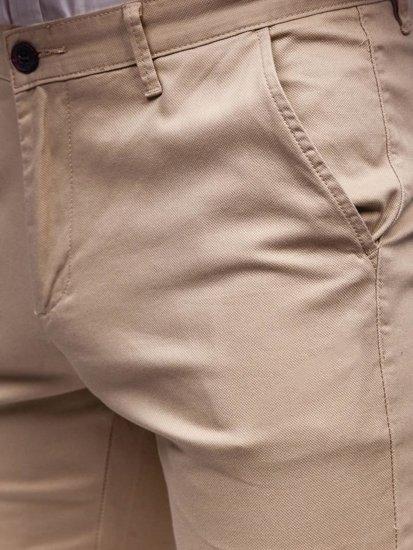 Béžové pánske chinos nohavice Bolf KA969