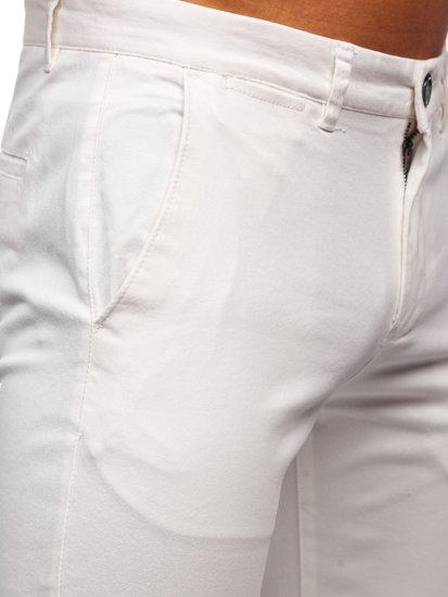 Biele pánske chinos nohavice Bolf 1143