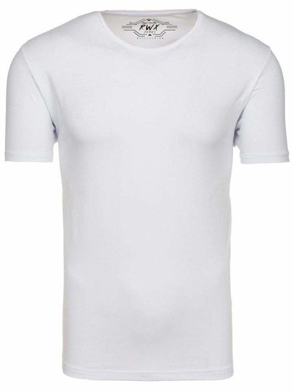 Biele pánske tričko bez potlače BOLF 172009-A