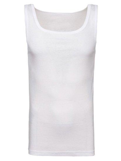 Biele pánske tričko bez potlače BOLF C10050