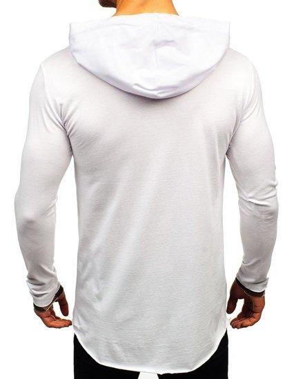 Biely pánsky nátelník s potlačou BOLF 1220