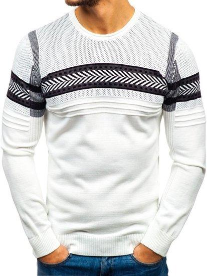 Biely pánsky sveter BOLF 1016