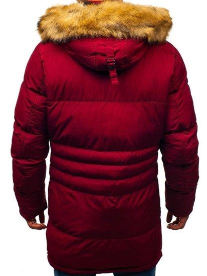Bordová pánska zimná bunda parka BOLF R110