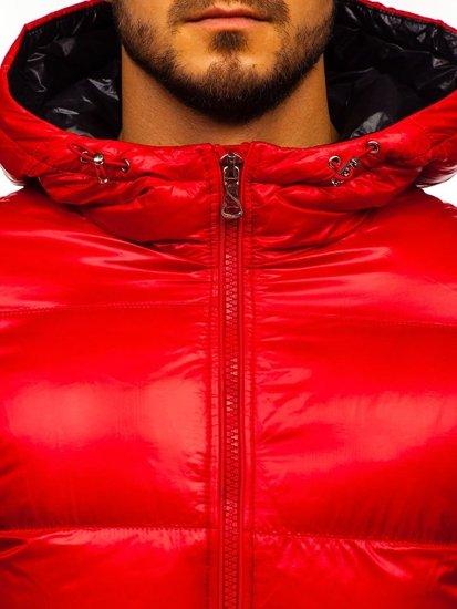 Červená pánska zimná bunda Bolf 99311