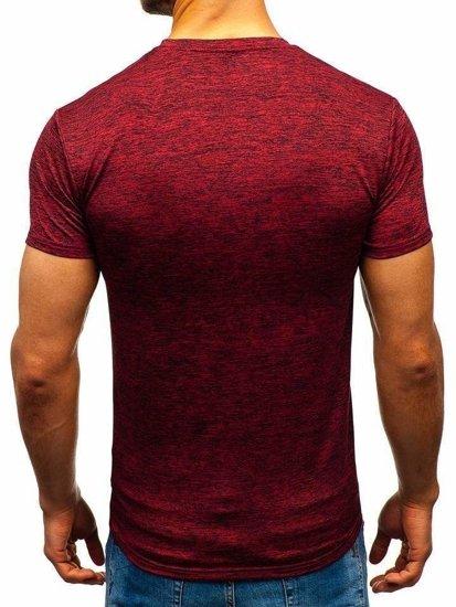 Červené pánske tričko bez potlače BOLF S01