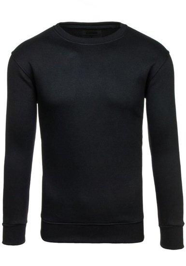 Čierna pánska mikina bez kapucne BOLF BO-01
