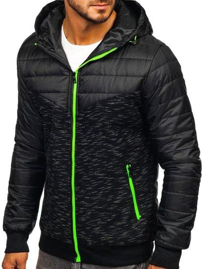 Čierna pánska prechodná bunda Bolf TY29