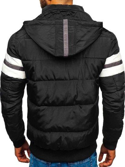 Čierna pánska športová zimná bunda Bolf JK397