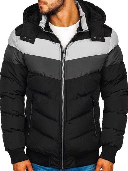 Čierna pánska zimná bunda Bolf 5808