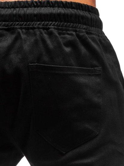 Čierne pánske jogger nohavice BOLF 0858