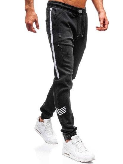 Čierne pánske riflové jogger nohavice BOLF 2055