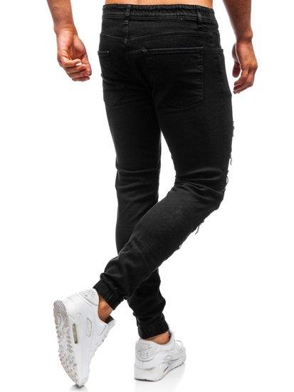 Čierne pánske rifľové joggery Bolf 820
