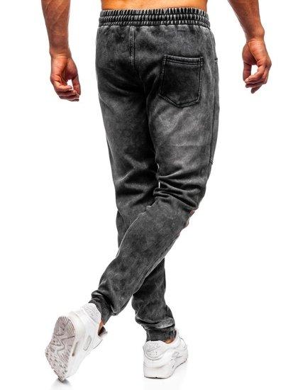 Čierne pánske rifľové joggery  Bolf KK1069