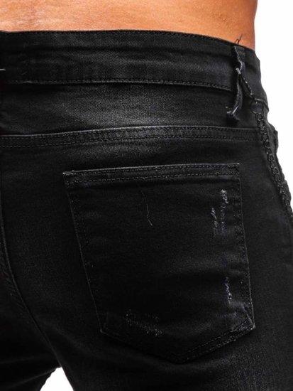 Čierne pánske riflové kraťasy BOLF 1059