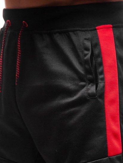 Čierne pánske teplákové kraťasy BOLF 81007