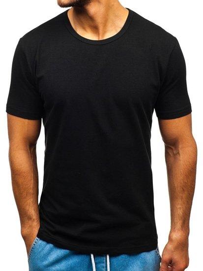 Čierne pánske tričko bez potlače BOLF T1280