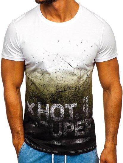 Čierne pánske tričko s potlačou Bolf 100767