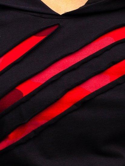 Čierno-červený pánsky nátelník s potlačou BOLF 1220