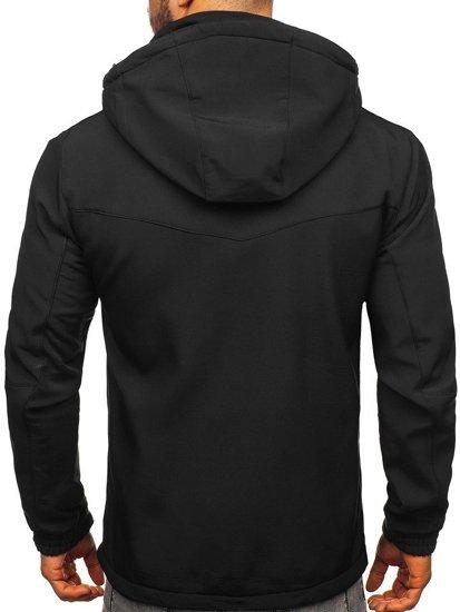 Čierno-oranžová pánska softshellová bunda Bolf 12259