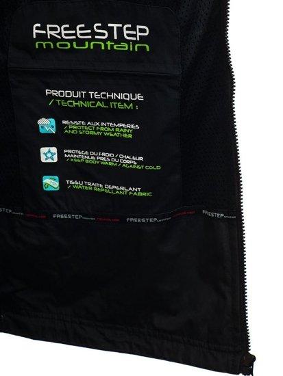 Čierno-zelená pánska prechodná bunda BOLF 2345