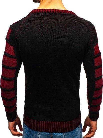 Čierny pánsky sveter BOLF 6007