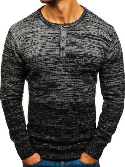 Čierny pánsky sveter BOLF H1821