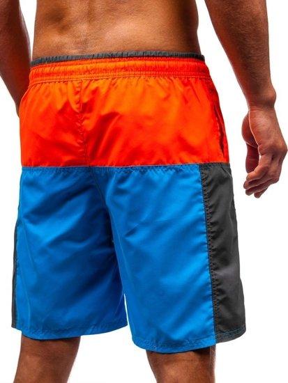 Farebné pánske kúpacie šortky BOLF 339C