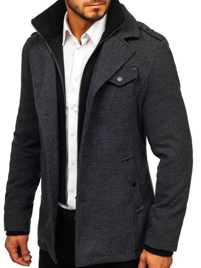 Grafitový pánsky kabát Bolf 832