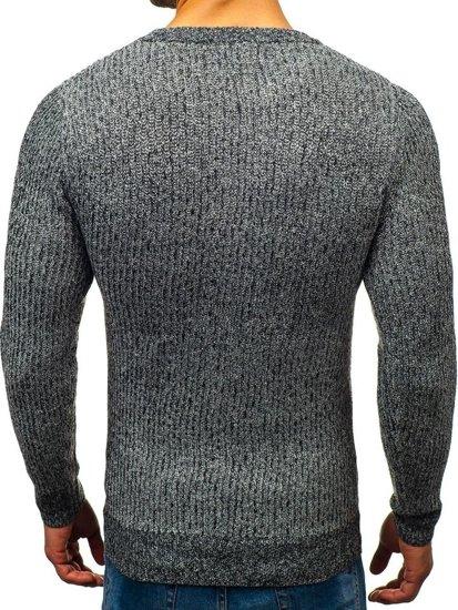 Grafitový pánsky sveter BOLF H1818