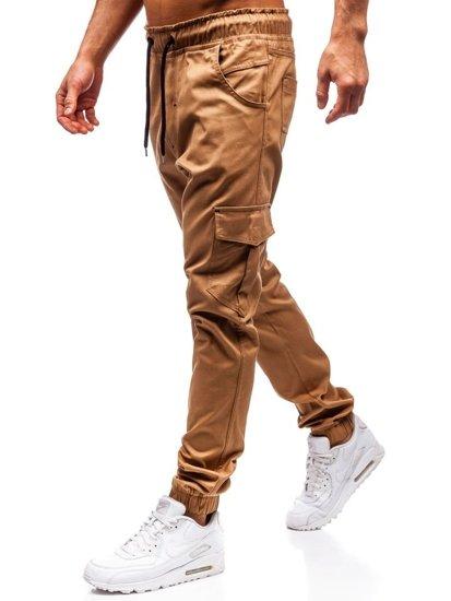 Kamelové pánske jogger kapsáče BOLF 0404