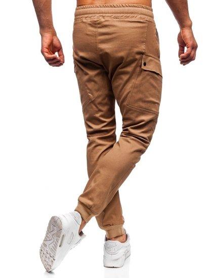 Kamelové pánske jogger nohavice Bolf 11103