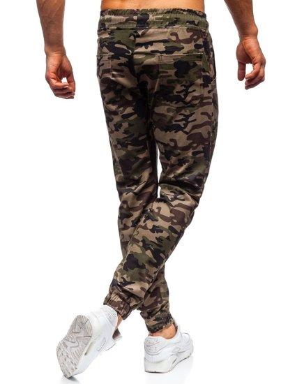 Khaki maskáčové pánske joggery Bolf 0367