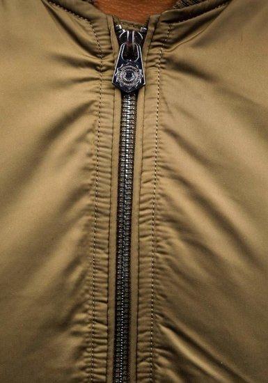 Khaki pánska prechodná bunda BOLF 57NA