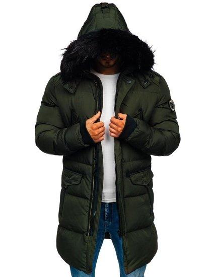 Khaki pánska zimná bunda parka Bolf 5837