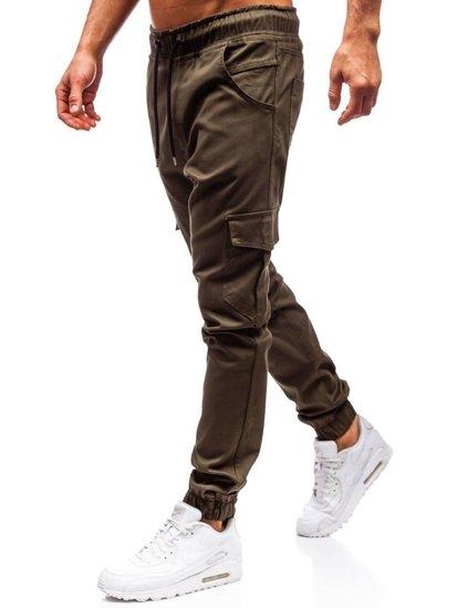 Khaki pánske jogger kapsáče BOLF 0404