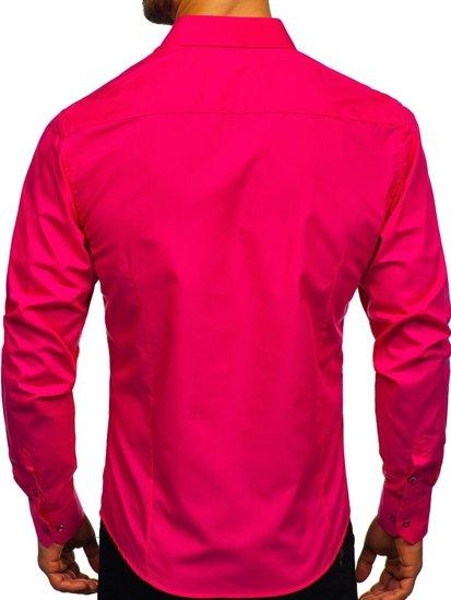 Koralová pánska elegantná košeľa s dlhými rukávmi BOLF 1703