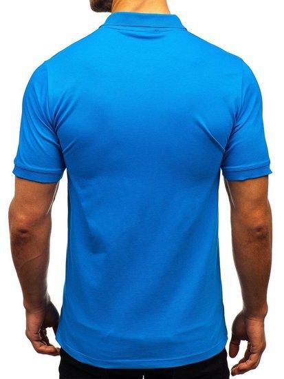 Modrá pánska polokošeľa BOLF 9025