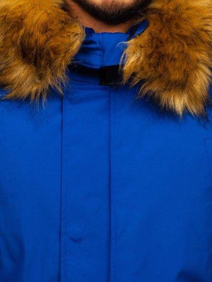 Modrá pánska zimná bunda Bolf 2019