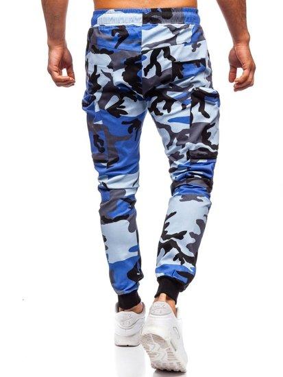 Modré pánske kapsáčové joggery Bolf 0475
