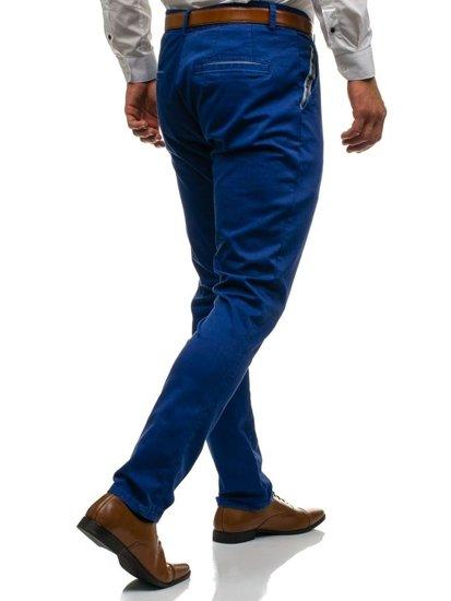 Modré pánske spoločenské nohavice BOLF 4326