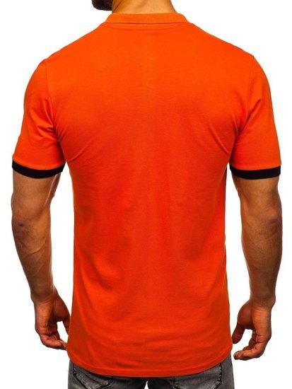 Oranžová pánska polokošeľa Bolf 171222-1
