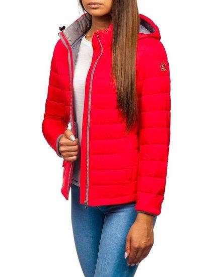 Ružová dámska prechodná bunda BOLF AB054