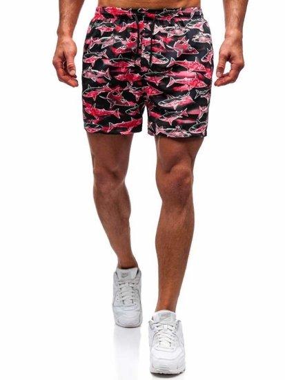 Ružové pánske kúpacie šortky BOLF Y757