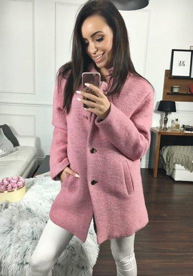 Ružový dámsky kabát BOLF 1950